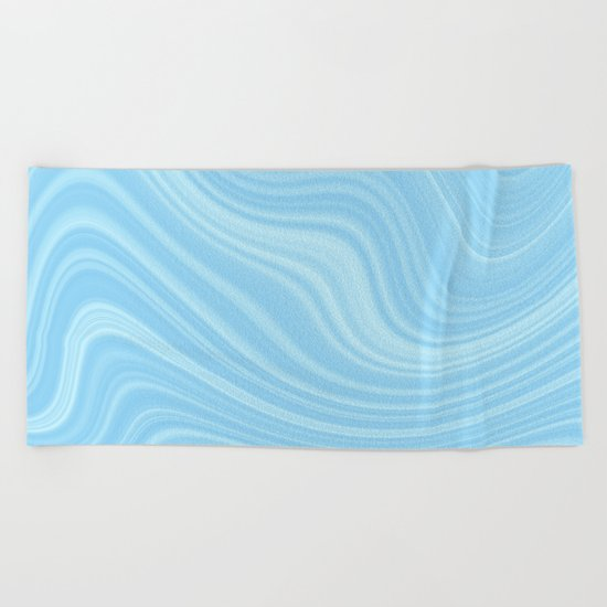 Blue wave abstract. Beach Towel