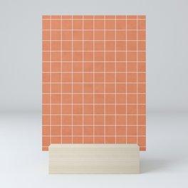 Small Grid Pattern - Coral Mini Art Print