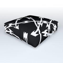 Barb Black Outdoor Floor Cushion
