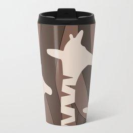 Abstract Giraffe Family Travel Mug