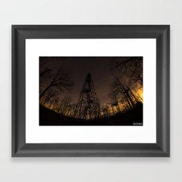 Ninham Fire tower Framed Art Print