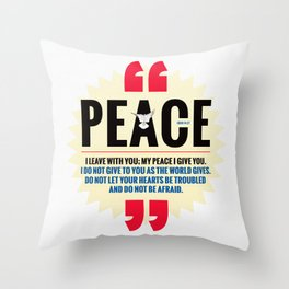 PEACE! Throw Pillow