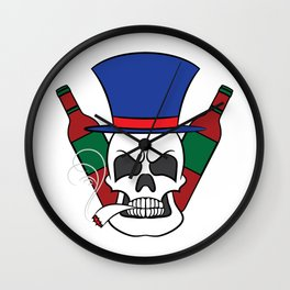 Fierce and creative skull tee design. Makes a nice and unique gift to your loved ones too!  Wall Clock