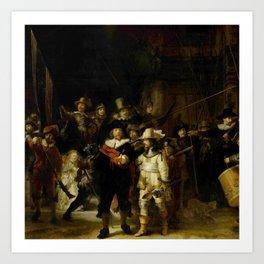 Rembrandt, The night watch, de nachtwacht Art Print