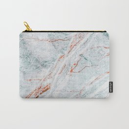 Ice Lava Marble, Modern Marble Print, Luxury Geometric Art, Minimal Scandinavian Abstract Pattern Carry-All Pouch