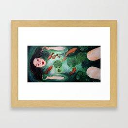 Kelsey Dylan as Ophelia Framed Art Print