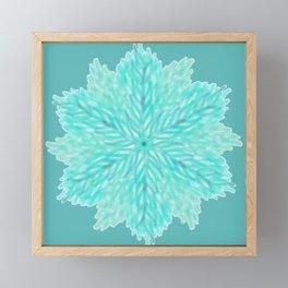 Leaves Mandala Framed Mini Art Print