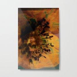 Earth Tones Flower Love Metal Print