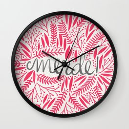 Pardon My French – Pink Wall Clock