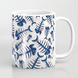 Blue Fish Bones on a Lonely Beach Coffee Mug