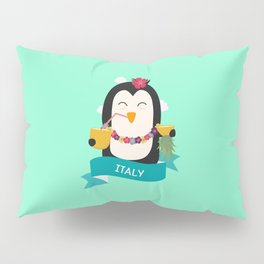 Penguin Hawaii from ITALY T-Shirt for all Ages Pillow Sham
