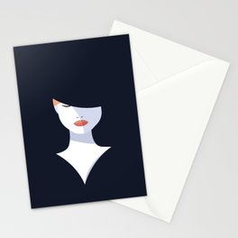 Woman in the dark Stationery Cards