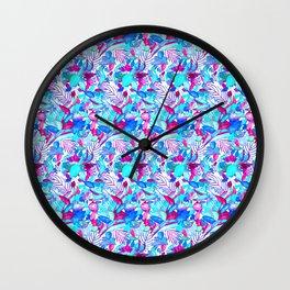 Blue Purple jungle Wall Clock