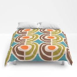 Mid Century Modern Solar Flares Pattern Comforters
