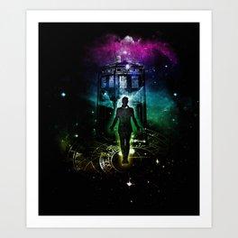 time traveller v2 Art Print