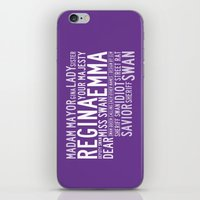 swan queen iPhone & iPod Skins featuring Swan Queen Nicknames - Purple (OUAT) by CLM Design