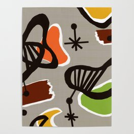 Mid Century Art Backcloth Inspired Poster