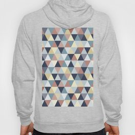 Earth Tones and Blues Small Triangles A Hoody