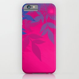 Bisexual Pride Soft Radiance Through Leafy Branches iPhone Case