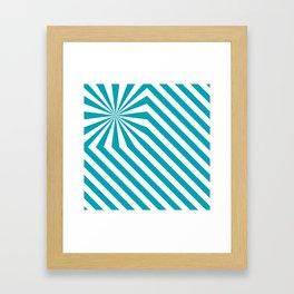 Stripes explosion - Blue Framed Art Print
