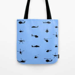 Helicopter Pattern Tote Bag