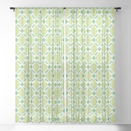 Abstract [GREEN] Emeralds Sheer Curtain