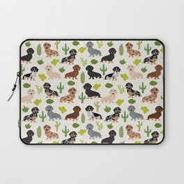 Dachshund cactus southwest dog breed gifts must have doxie dachsies Laptop Sleeve