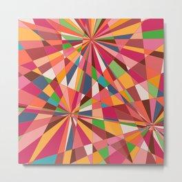 Geometric Metal Print