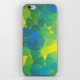 Blue and green Morocco iPhone Skin
