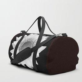 Sunflower In Black And White #decor #society6 #buyart Duffle Bag