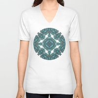 paisley V-neck T-shirts featuring paisley by gtrappdesign