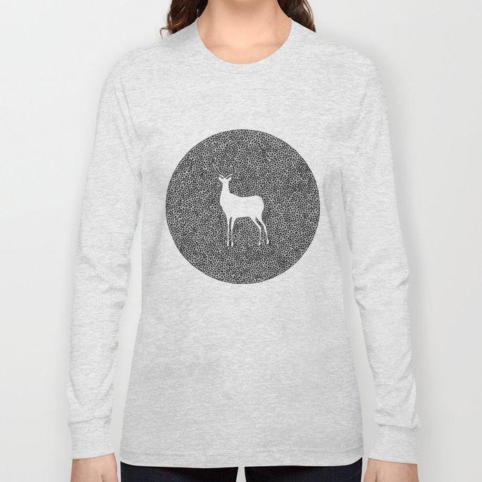 Deer Mandala 2 black-white Long Sleeve T-shirt