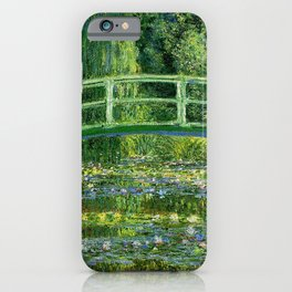 Water Lilies and the Japanese bridge iPhone Case