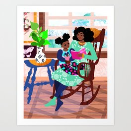 Rocking Chair Art Print