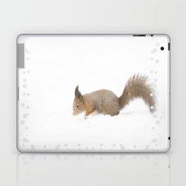 Little squirrel sitting in the snow #decor #society6 #buyart Laptop & iPad Skin
