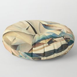 Pertaining to Sailing Yachts and Yachting by Charles Sheeler Floor Pillow