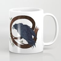 raven Mugs featuring Raven  by Justin McElroy
