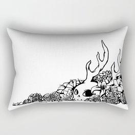 Skull and Flowers Rectangular Pillow