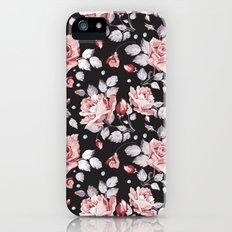 Vintage Pink Rose Flowers Slim Case iPhone (5, 5s)