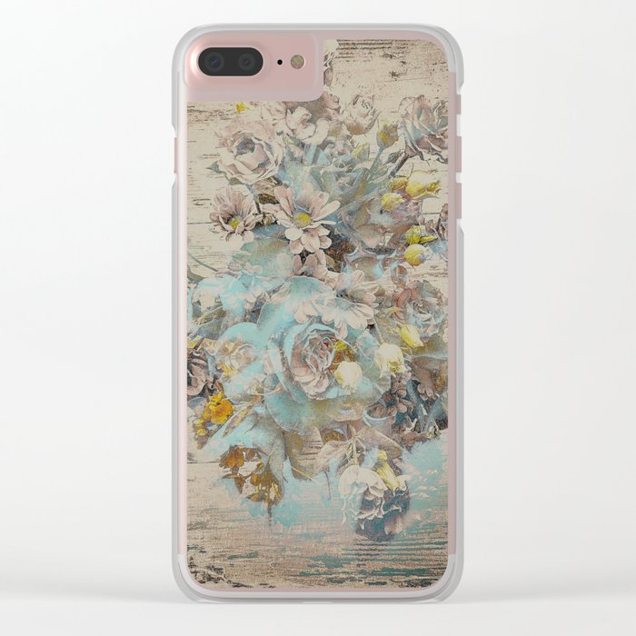 Moonflowers Clear iPhone Case