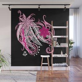 Pink Hawaii Tribal Threads Wall Mural