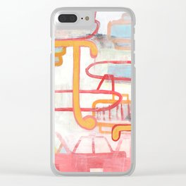 Exit To The Left Clear iPhone Case