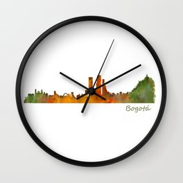 Bogota City Skyline Hq V1 Wall Clock