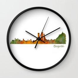 Bogota City Skyline Hq V1 Wall Clock