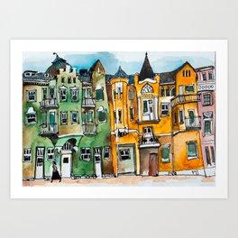 Helsinki, Finland Watercolor Art Print
