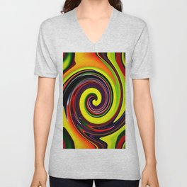 Abstract Unisex V-Neck