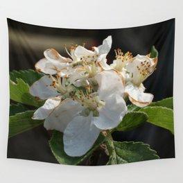 Apple tree blossom Wall Tapestry