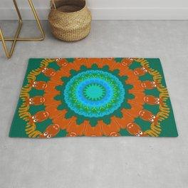 Moose Meadow Mandala Design Rug