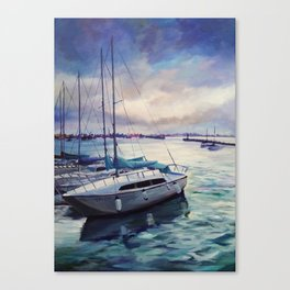 The cold blue Canvas Print