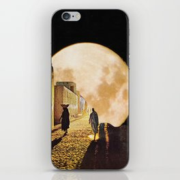 Walking at the moonlight iPhone Skin